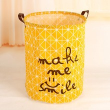 Besar Folding Laundry Storage Basket Waterproof Washing Dirty Clothes Orgnizer Bin Box Bag Cotton Linen
