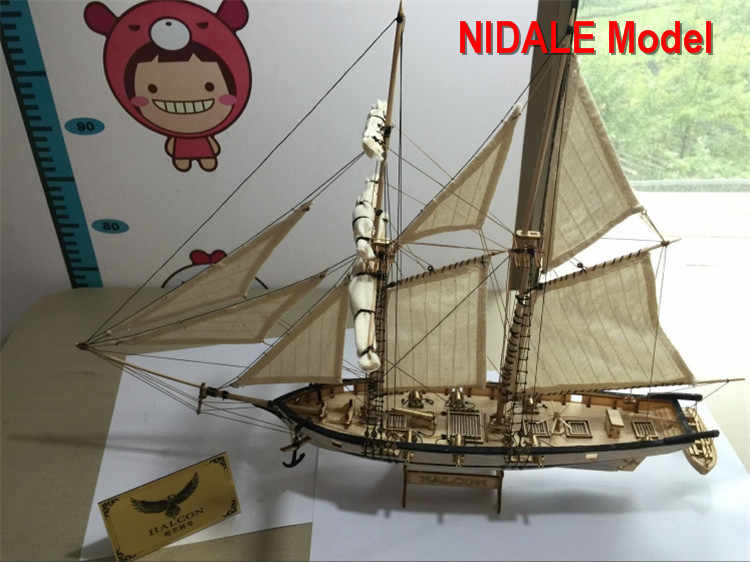 New version Hobby ship model Kits Halcon 1840 CNC brass cannons luxurious sailboat model Offer English Instruction