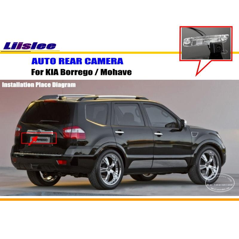 Liislee Rear View Camera / Backup Parking Camera For KIA Borrego / Mohave / License Plate Light Camera / HD CCD Night Vision