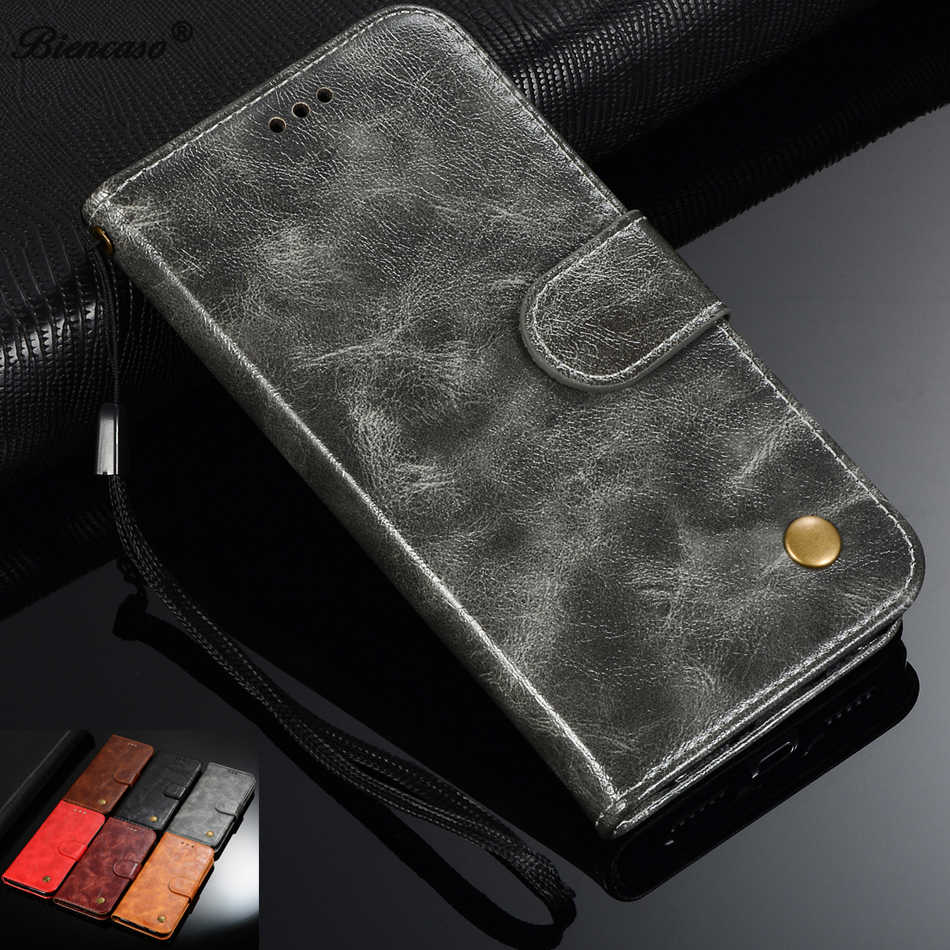 Retro Leather Wallet Case For Huawei Y6 II Y5 2 III Y9 2019 2018 2017 Y7 Prime Pro P9 Lite P8 Mini Honor Play 8A 7C Phone Cover