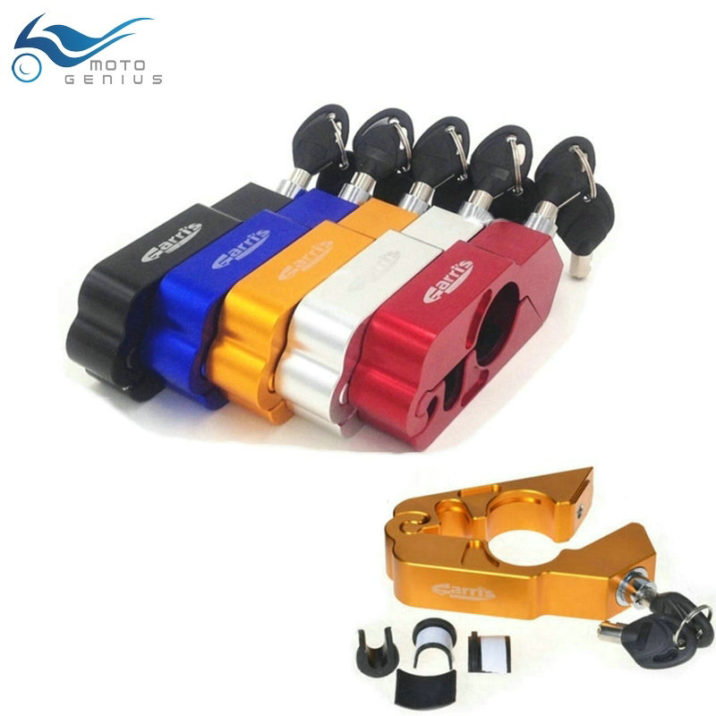Motorcycle Lock Scooter ATV Pit Dirt Bike Handlebar Security Safety Theft Protection Bake Throttle Grip