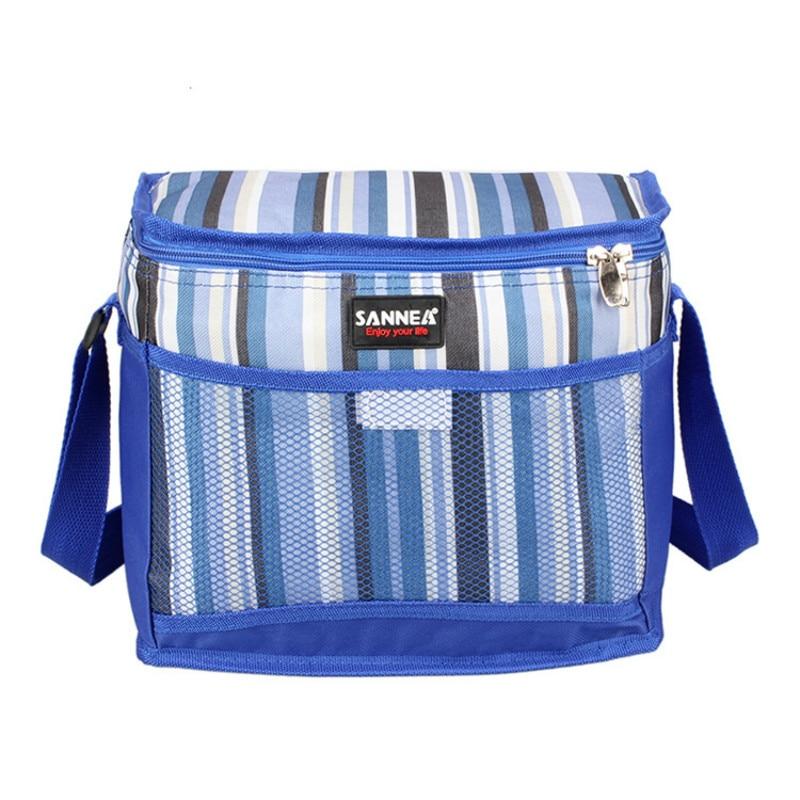 10.5l Oxford Langlebig Mittagessen Tasche Picknick Box Isoliert Eis Pack Kühlen Schulter Tasche Lebensmittel Milch Frische Warme Träger Isolierung Taschen
