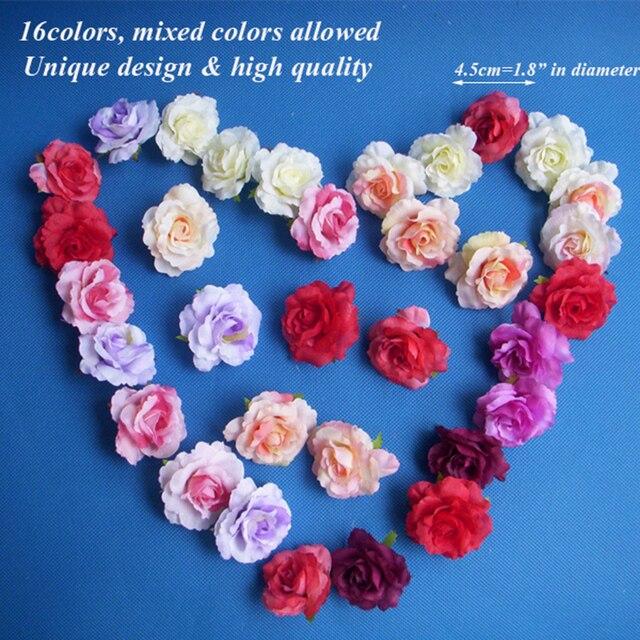Aliexpress buy 50pcs 45cm artificial silk flowers for 50pcs 45cm artificial silk flowers for decoration small craft flowers festival party supplies flowers mightylinksfo