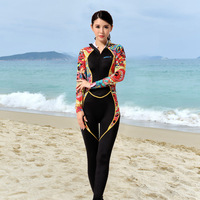 0.5mm Lycra Long Sleeve Rash Guard Women Swimsuits One Piece Hooded/Unhooded Zipper At The Back/Front Scuba Wetsuits Surf CO