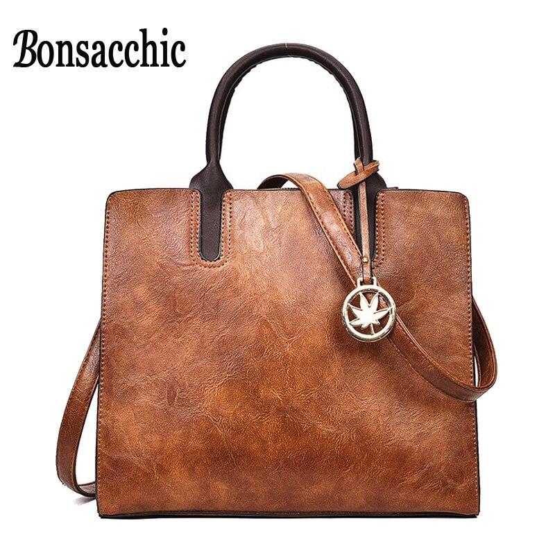 Aliexpress.com : Buy Bonsacchic Vintage Top Handle Bags ...