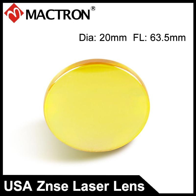 USA Co2 Laser Lens Mirrors 20mm FL63.5mm