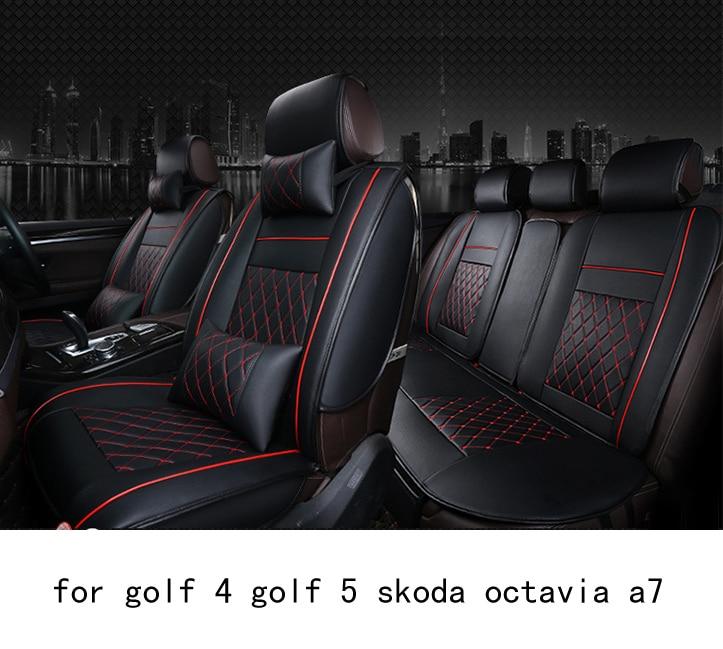 OUZHI легко чистить фирма сетка PU кожаный чехол для сидения автомобиля для VW гольф 4 гольф 5 Шкода Октавия А7 передние задние универсальные чехлы на сиденья