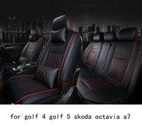 OUZHI facile ferme propre grille pu siège de voiture en cuir couverture pour vw golf 4 golf 5 skoda octavia a7 avant arrière siège universel couvre