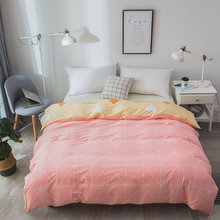 Pure Cotton Luxury Duvet Cover twin full queen king Size Bedding 1PCS Duvet Cover Pink yellow 200*230cm Quilt cover Home textile(China)
