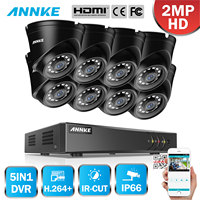 ANNKE 8CH 1080P Home Video Security System Lite H.264+ 5in1 DVR With 8PCS TVI Smart IR Dome Weatherproof Outdoor Camera CCTV Kit