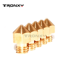 6pcs/lot For PRUSA-I3 Extruder Nozzle Mixed Sizes 0.2mm 0.3mm 0.4mm 3D printer head 1.75MM MK8 Makerbot