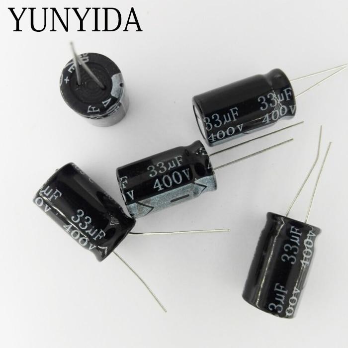 5PCS   400V   10UF  15UF 22UF 33UF  47UF 68UF  82UF 100UF 150UF    Aluminum Electrolytic Capacitor