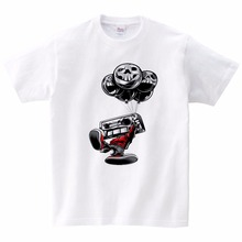 Balloon-toting Sound Doll Printed Children T-shirt Boys Cotton Girls Leisure Funny Short-sleeved