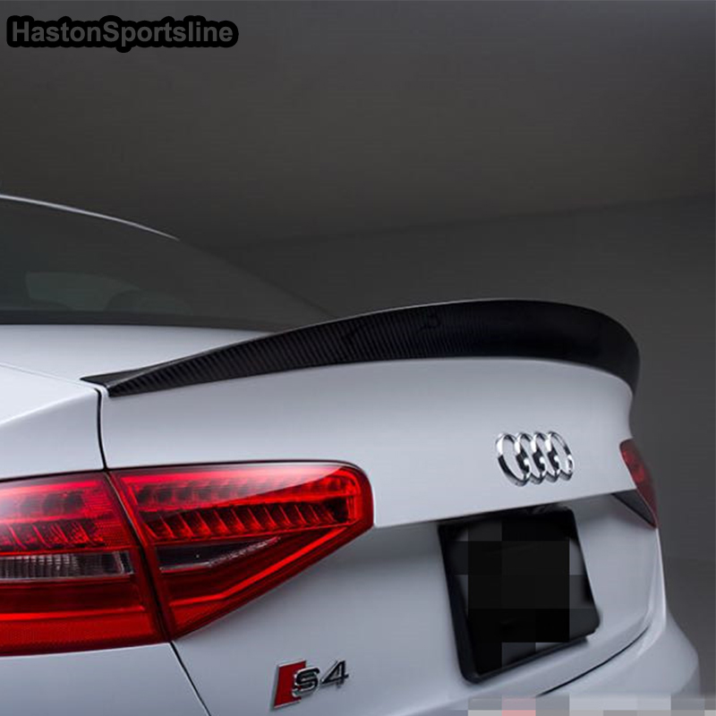 Image 4 - S4 HK Style Carbon Fiber Rear Spoiler Wing for Audi A4 B8.5 S4 4Door 2013~2016-in Spoilers & Wings from Automobiles & Motorcycles