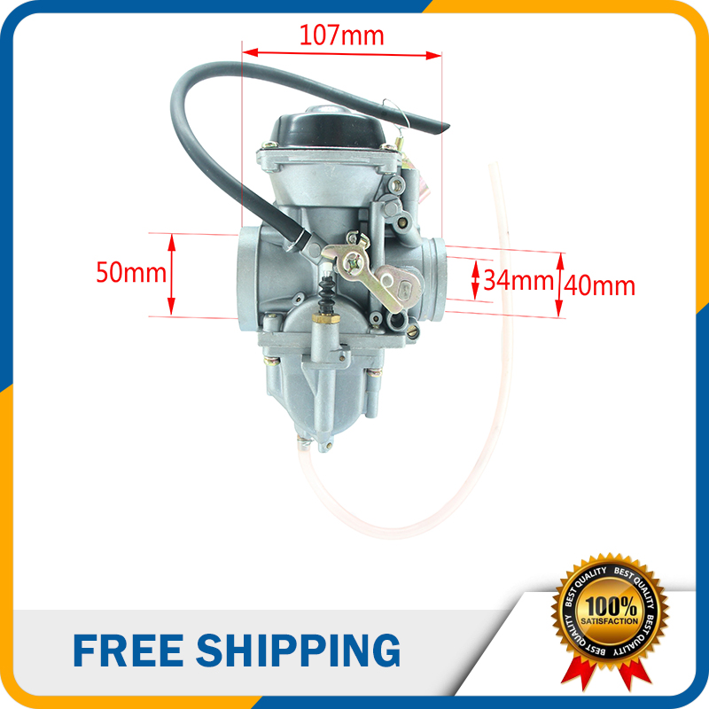 34mm Carburetor KFPD34 Cable Choke Carburetor for XinYuan 250cc 4 Valve Engine ATV Motorcycle Scooter HK-156 мотоцикл the xinyuan motorcycle x1 xy150gy 11