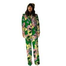 Casual blazers with trouser for women custom African pant suits dashiki print elegant Ankara suits african dresses for women 100% cotton new arrival women s print dashiki dress stunning elegant