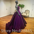 2016 Special Occasion Ball gown Satin Long Prom Dresses Cheap Sexy Sweetheart Backless Formal Party Dress Evening Gowns