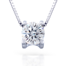 TransGems Moissanites Pendant Forever Classic For Wome Romantic Solitaire 1.0ct Certified HI/vvs 925 Silver Real Fine Gift