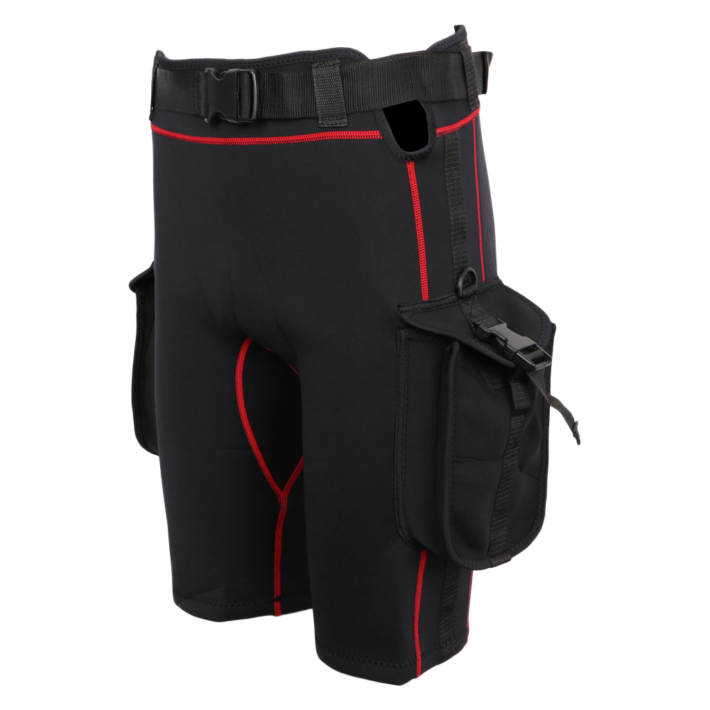 Wetsuit Shorts with Quick Release Belt Buckle Diving Surfing Short Pants with Pockets