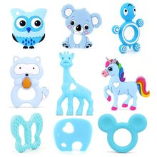 TYRY.HU 1pc Silicone Teether Animal Baby Teether Pendant Food Grade BPA Free Baby Teething Chew Charms Silicone Beads Toy Gift(China)