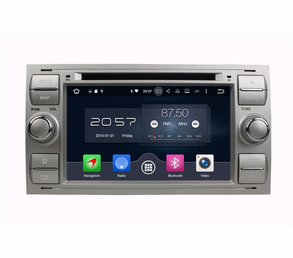 Octa Core 2 din 7 Android 6.0 Car Radio DVD GPS for Ford Focus Mondeo S-MAX C-MAX Galaxy Fiesta Form Fusion Connect 4GB RAM