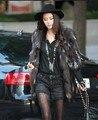 Новый Silver fox пальто женщины длинные природный фокс шубы зимой меха лисы бесплатная доставка H108