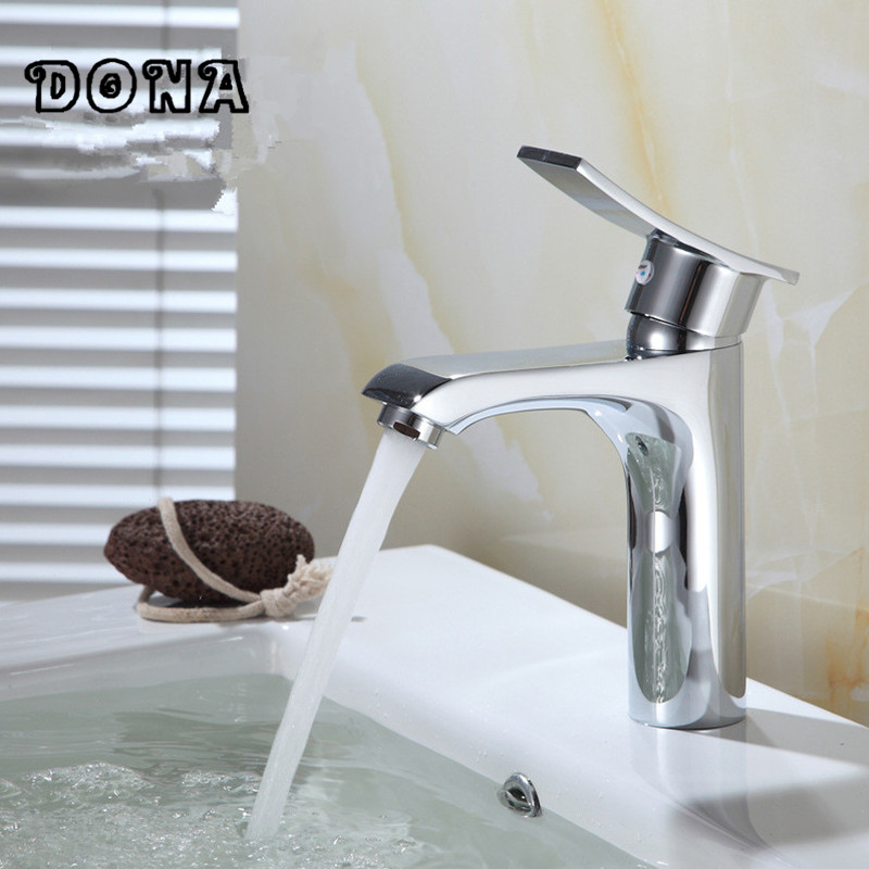 Free Shipping Bathroom Faucet Chrome Finish Brass Basin Sink Faucet Mixer Tap Single Handle DONA2125Free Shipping Bathroom Faucet Chrome Finish Brass Basin Sink Faucet Mixer Tap Single Handle DONA2125