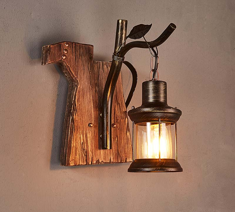 American Style Loft Vintage Wall Lamp Designer Creative Dining Room Wall Light Fixture Retro Sconce Wall Lights for Home norbic creative loft wood wall sconce lamp with switch home deco bedroom iron bell lampshade e27 bulb wall light fixture