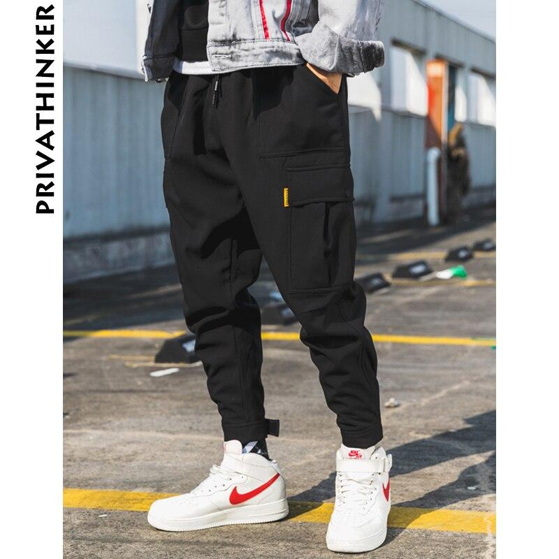 Privathinker Männer Schwarz Jogger Hosen Sommer 2018 Mens Big Taschen Ankel Cargo Hosen Männlichen Frühjahr Streetwear Overalls Jogginghose