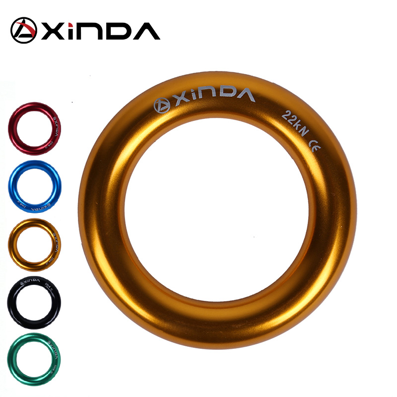 Xinda Aluminum Alloy Small Ring Outdoor Mountaineering Climbing Multi-purpose Ring 22KN Climbing Tree Flat Belt Loop Rappel Ring
