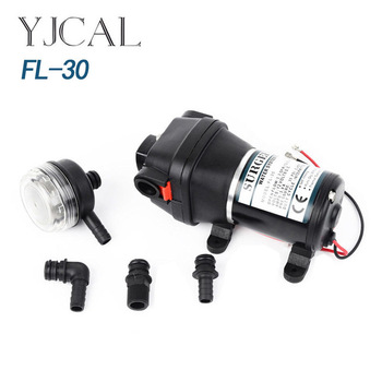 FL-30 12V 24V DC Self Priming Water Pump, Outdoor Pump Electric Vehicle, Yacht Life Boosting Water Supply fl 30 12v 24v dc electric diaphragm pump high pressure rv yacht family water pump self priming solar booster water bilge pump