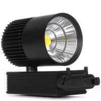 Track Lighting Rail Light 30W COB Clothing Shoe Shop Black White Track Lights LED Rail Spotlight