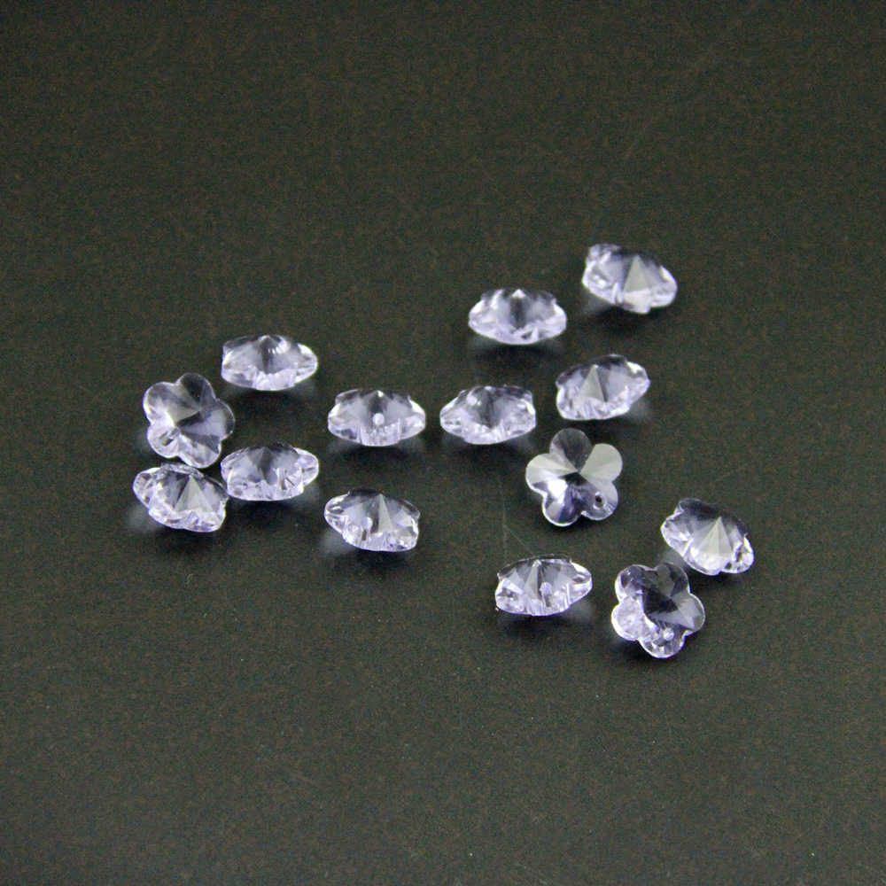 500 pc 14mm Сирень Цвет цветок сливы из кристаллов шарики в 1 отверстие, гирлянды из нитей кристаллы части для люстры, хрустальные бусины для занавеси