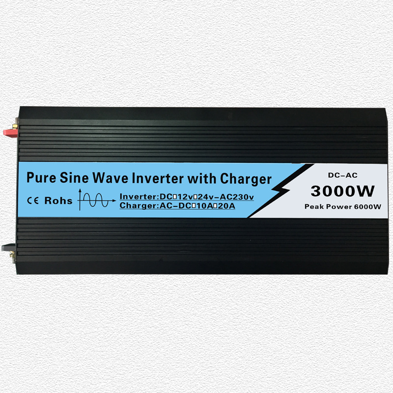 цена на Continuous 3000W UPS Pure Sine Wave Inverter Input 12V/24V Output 220V/110V DC to AC Solar System Inverter with 20A/10A Charger