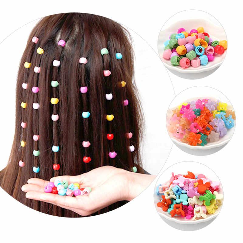مشبك مخلب صغير للأطفال ، الفاصوليا هلام صغيرة ملونة ، مقاطع الشعر للأطفال ، مقاطع زهرة لون الحلوى ، حبل شعر مضفر الشعر