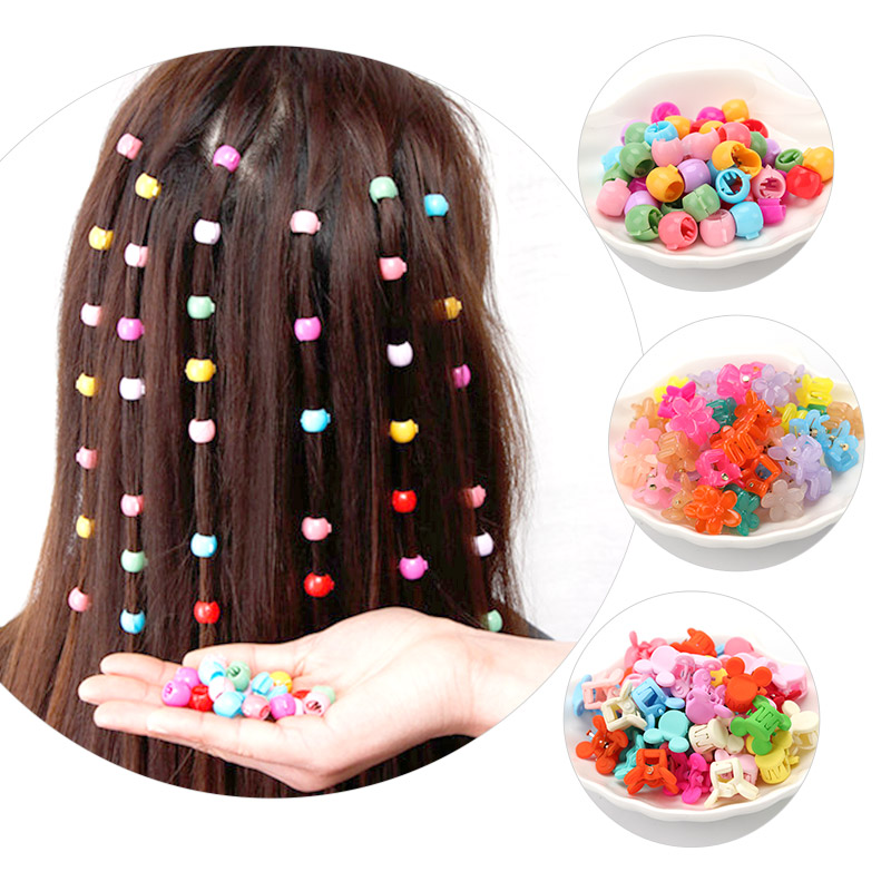 Children's Small Claw Clip, Colorful Small Jelly Beans, Hair Clips For Kids, Candy Color Flower Clips, Hair Braided Hair Rope