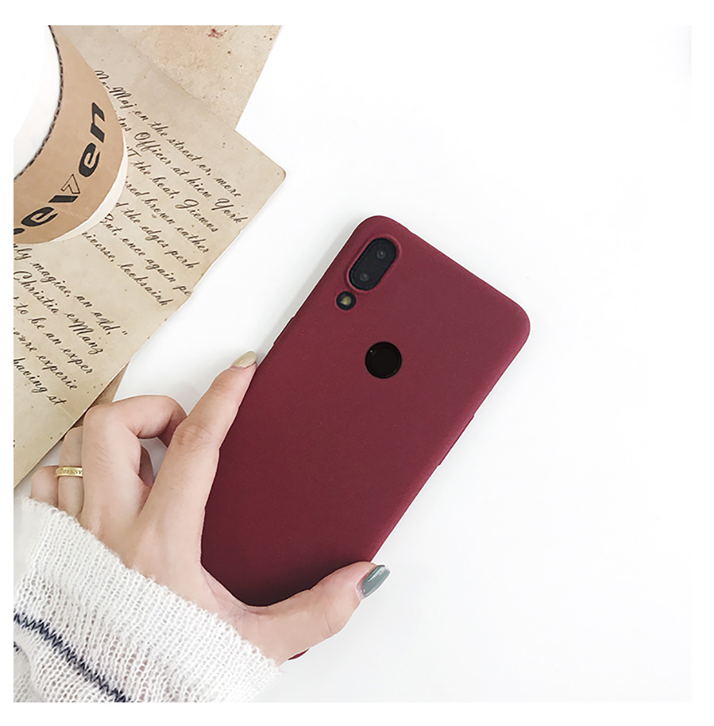 for LECAYEE Redmi Note 7 Matte Case Cover Redmi Note 5A Prime In Fitted Silicone Phone Case redmi 6 pro 6a 5 5a 4x s10 case (6)