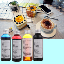 Delicious printing, food making decorative edible ink 400ML Ink For Canon 4 Color Desktop Inkjet Printer Cake Food Chocolate