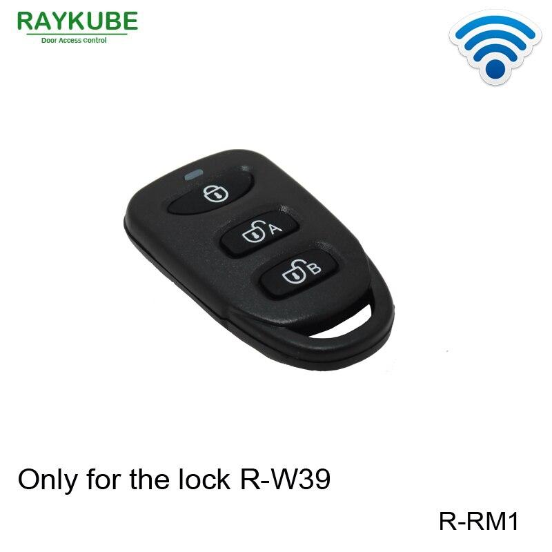 RAYKUBE R-RM1 R-W39 Trabalho Com Nossa Fechadura Elétrica Inteligente de Controle Remoto Sem Fio