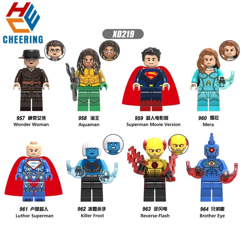 Single Sale Building Blocks Super Heroes Wonder Woman Series Figures Aquaman Mera Figures Bricks Dolls Toys For Children X0219