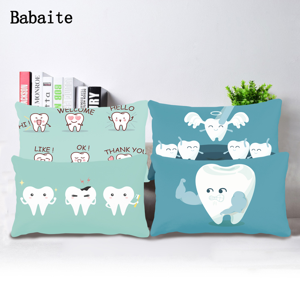 Lovely Cartoon Tooth Emoji Emoticon Super Deal Comfortable Unique Throw Pillow Cover Bedding Set