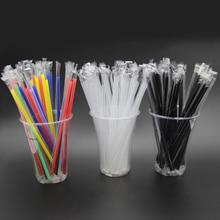 100 шт прозрачные индивидуально упакованные питьевые трубочки из полипропилена, соломинки для чайных напитков, смузи, большие толстые вечерние праздничные мероприятия