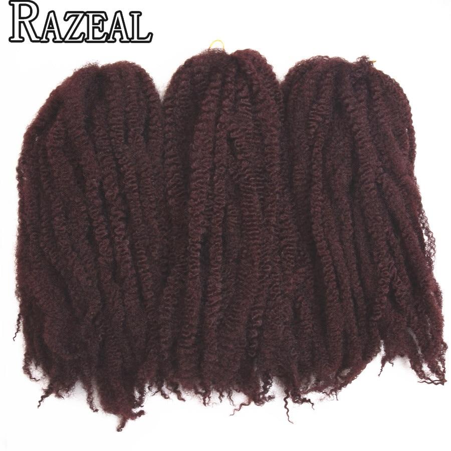 Razeal One Piece 18 '' Afro Kinky Marley vlasy háčkování vrkoč - Syntetické vlasy