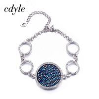 Cdyle Crystals From Swarovski Bracelets Women Bracelet For Women Bangle Austrian Rhinestone Fashion Jewelry Elegant Black