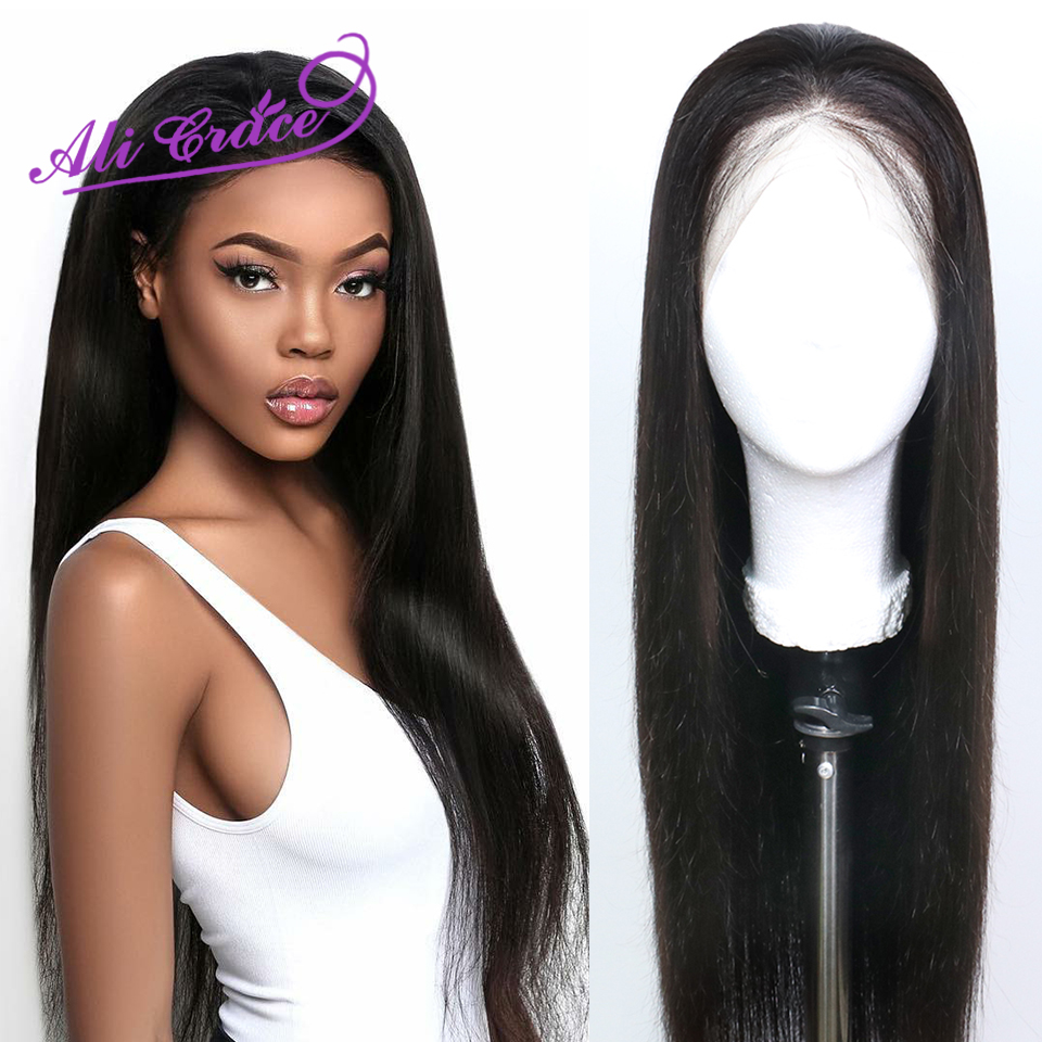 Ali Grace Peruvian Straight 13 6 Lace Front Wigs For Women Pre Plucked Hairline With Baby