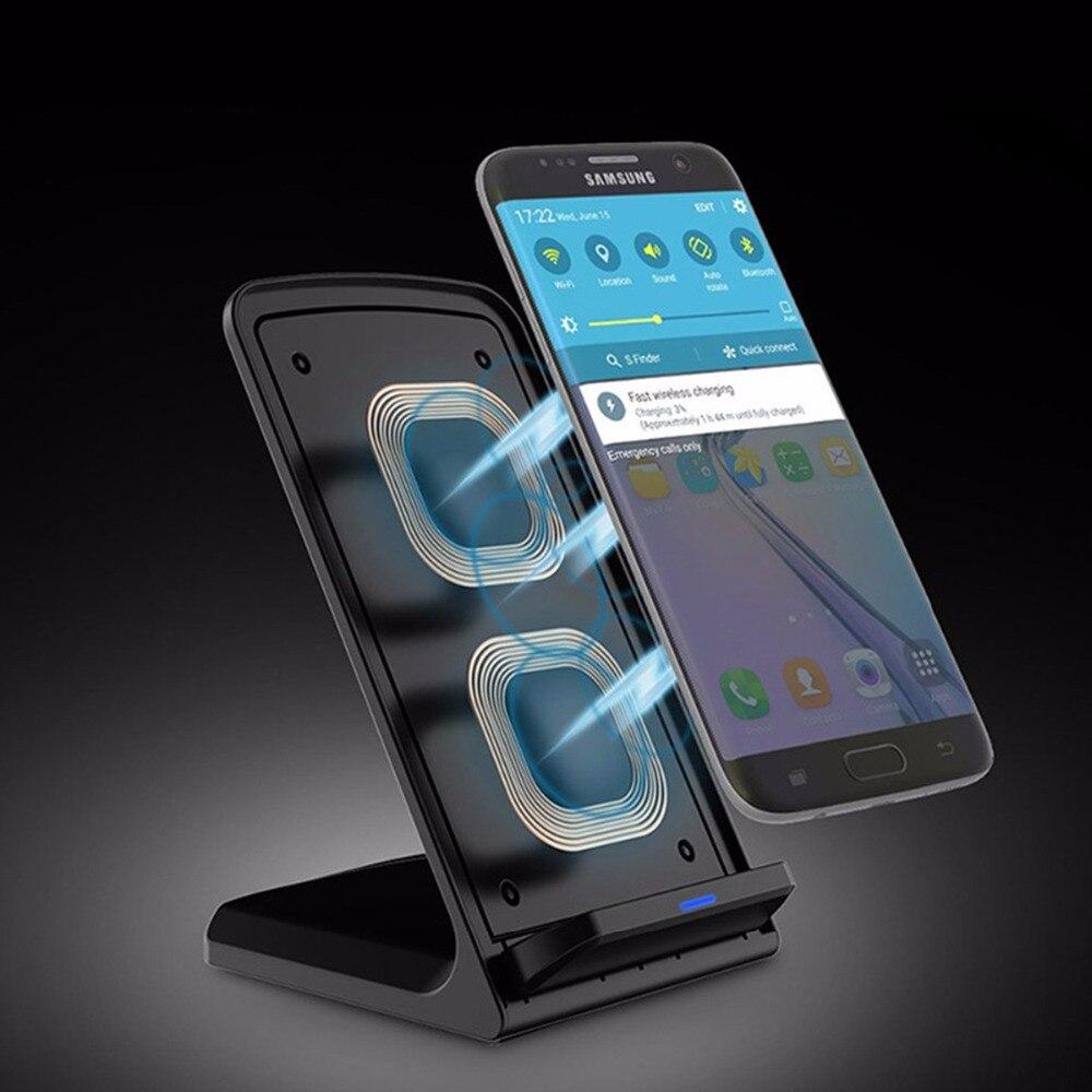 10 W rapide sans fil rapide chargeur Qi 5 v 2A Soutien technologie Pour iphone x 7 8 8 plus Universel Pour samsung galaxy s7 erge s7 s8