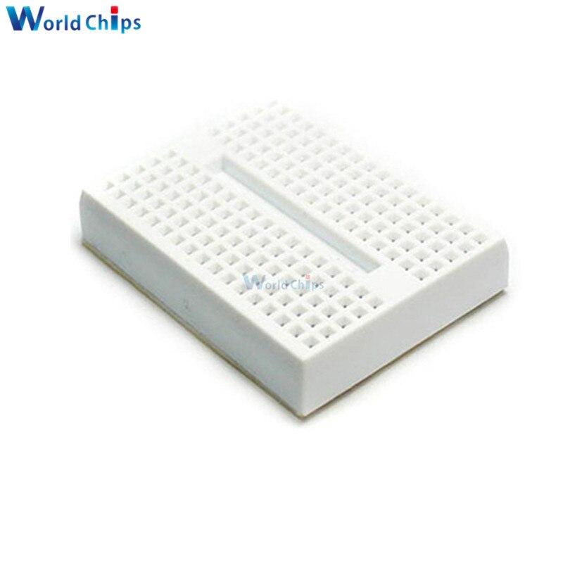 10pcs 170 Tie-points Mini Solderless Prototype Breadboard fit Arduino White