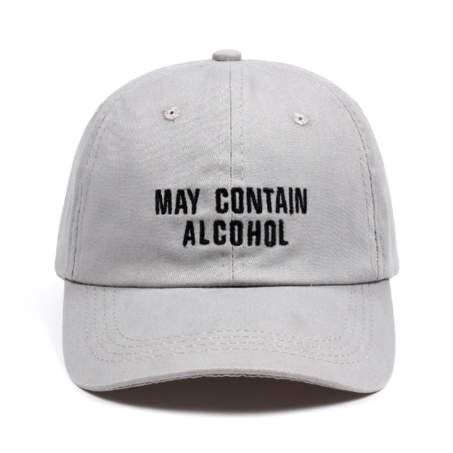 may contain alcohol Dad Hat Embroidery Cotton Baseball Caps Unisex Buzzword Snapback  Hat Brand Hats For Men Women Bone Casquette 9147b95ce01