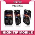 Reformado 9780 original blackberry bold 9780 teléfono celular 3g del gps del envío libre