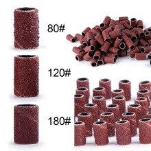 80#120#180# шлифовальные ленты для ногтей для УФ-геля для снятия акрилового лака электрическая машинка для обработки ногтей сверла для ногтей аксессуары для ногтей